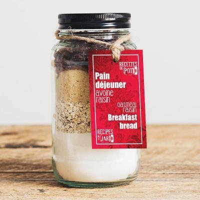 Oatmeal raisin breakfast bread